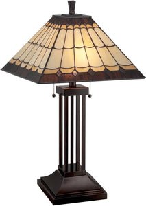 Lite Source Arty 2-Light Table Lamp Dark Bronze LS22260