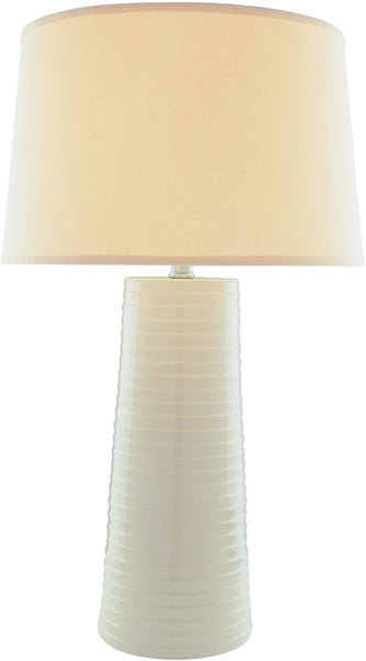 Lite Source Ashanti 1-Light Fluorescent Table Lamp Ivory LSF20830IVY