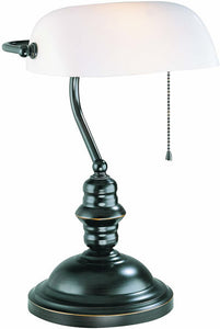 Lite Source Banker Banker's Lamp Dark Bronze LS224DBRZ