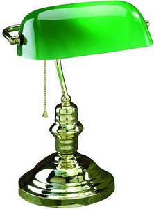 "15""H Banker Banker's Lamp Polished Brass"