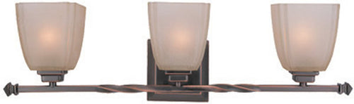 Lite Source 3-Light Wall Fixture Twisted Copper Bronze LS16289CPBRZ