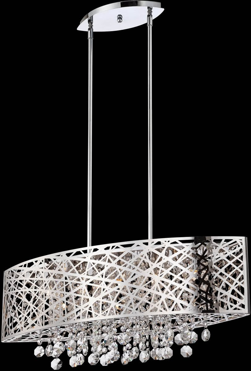 Lite Source Benedetta Light Pendant Lamp Chrome EL LampsUSA - 5 pendant light fixture