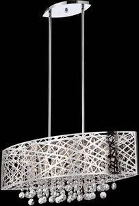 Lite Source Benedetta 5-Light Pendant Lamp Chrome EL10103