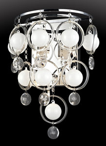 "12""w Bubbles Wall Sconce Chrome"