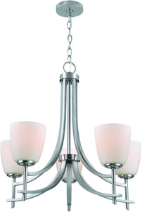 Cade 5-Light Chandelier Polished Steel