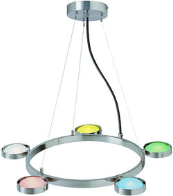 Lite Source Sherbet 5-Light Halogen Ceiling Fixture Polished Steel LS18745MULTI