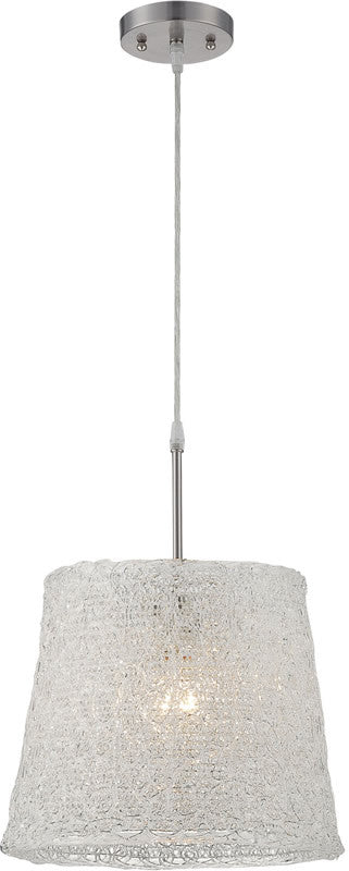 Clare 1-Light Pendant Lamp Polished Steel