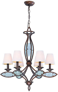 Lite Source Damaris 6-Light Chandelier Aged Bronze LS19136