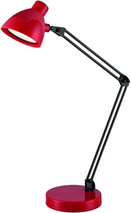 Lite Source Dantel 1-Light LED Desk Lamp Red LS22391RED