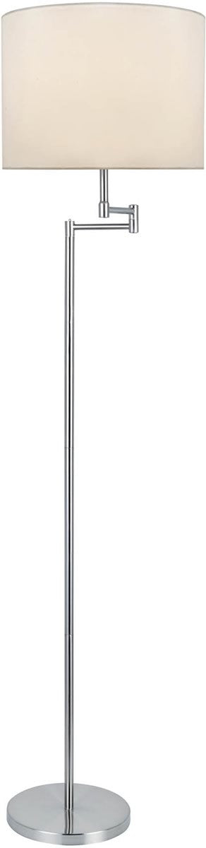 "Durango 58""H 1-Light Floor Lamp Polished Silver"