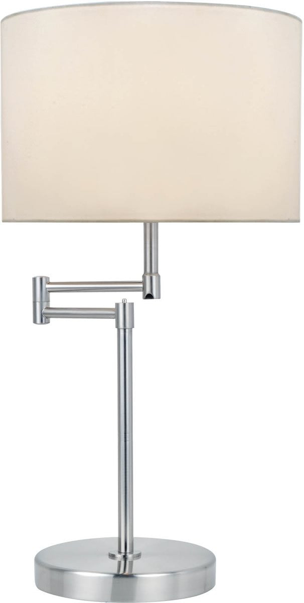 "22""h Durango 1-Light Table Lamp Polished Silver"