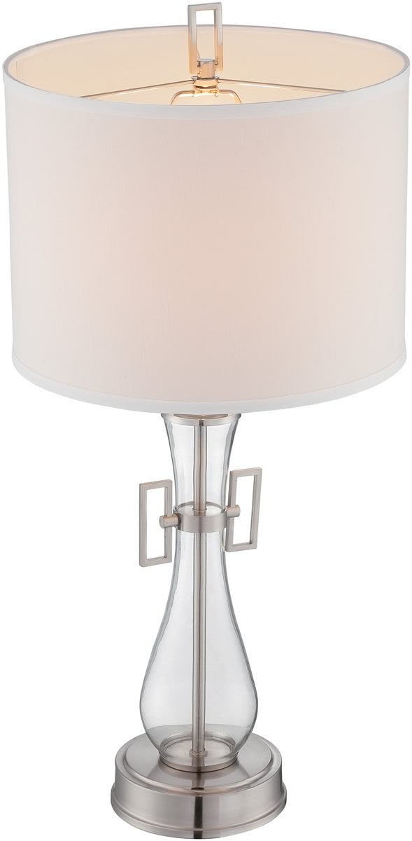 desk lamps White Perfect for small table lamps 5x8x7 Empire Hardback White Linen Edison Clip-On Lampshade By Home Concept and accent lights -Small
