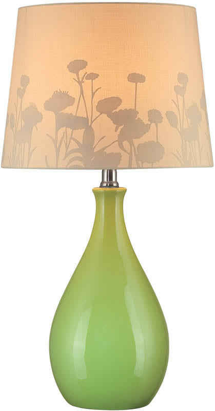 "23""H Edaline Fluorescent Table Lamp Green"