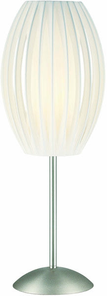 Lite Source Egg Table Lamp Stainless Steel LS2875SSWHT