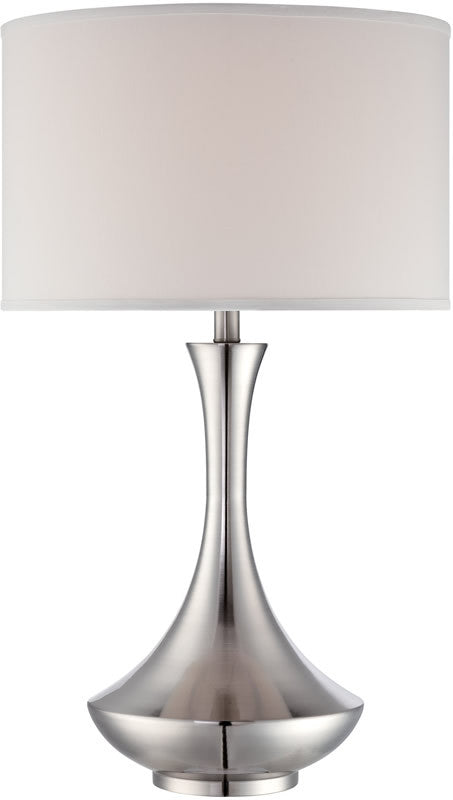 "29""h Elisio 1-Light Table Lamp Polished Steel"