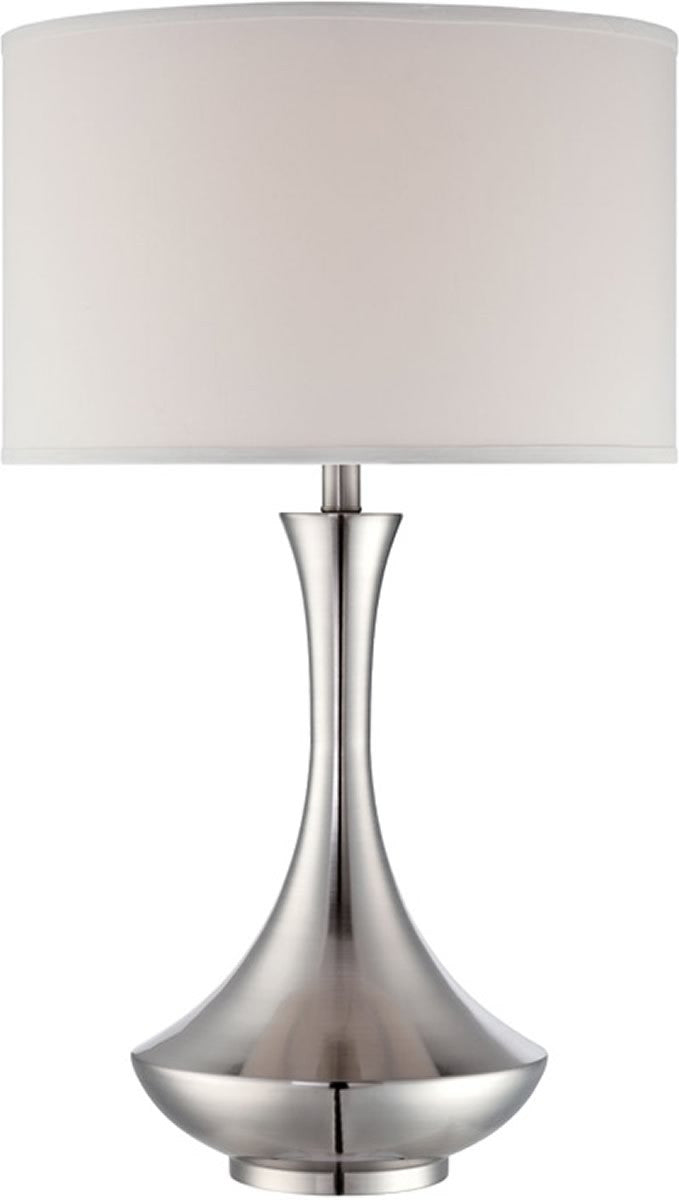 "29""h Elisio 1-Light Fluorescent Table Lamp Polished Steel"