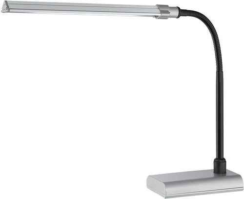 Lite Source Ermete 1-Light Led Desk Lamp Silver LS22048SILV