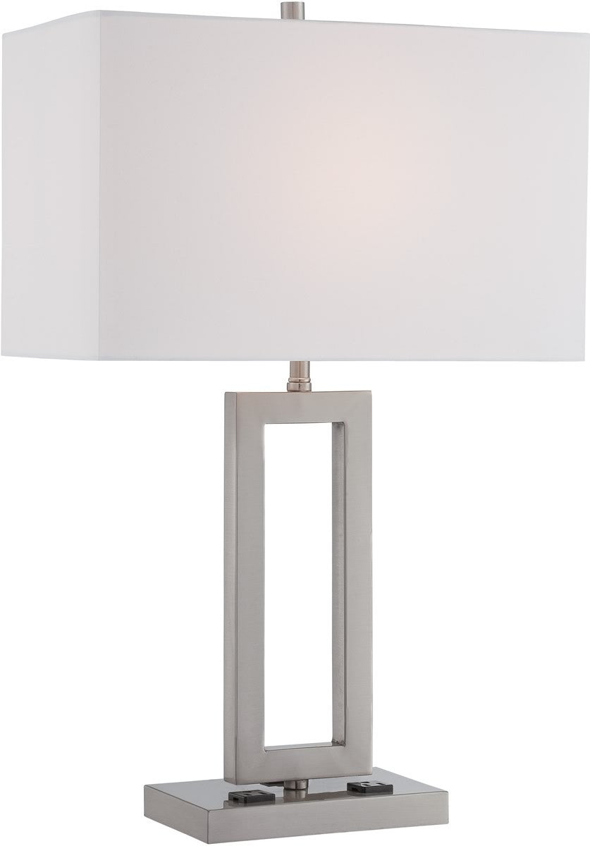 "26""H Fiadi 1-Light Table Lamps Polished Silver"