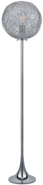 1-Light Fluorescent Floor Lamp Chrome