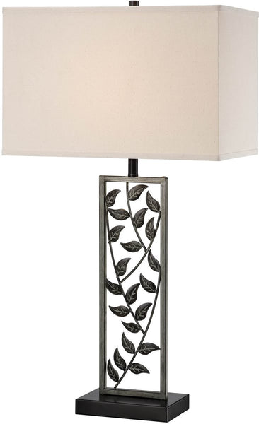 Lite Source Folha 1-Light Table Lamp Antiqued Silver Bronze LSF21954