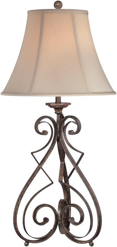 "33""h Gibson 1-Light Table Lamp Black Wrought Iron"