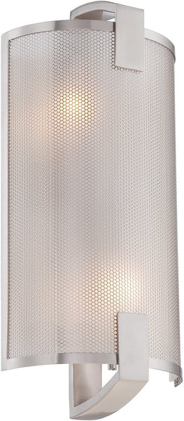 Lite Source Gilmore 2-Light Wall Lamp Polished Silver LS16673