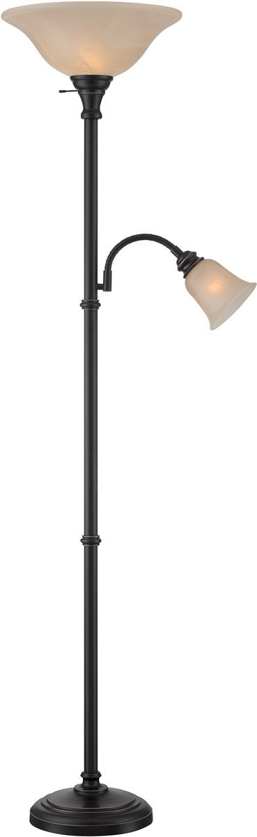 "72""H Henley 2-Light Torchiere Lamp Dark"
