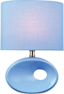 Lite Source Hennessy II 1-Light Table Lamp Blue Ceramic LS22315LBLU
