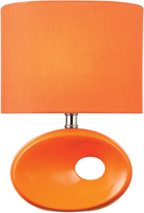 Hennessy II 1-Light Table Lamp Orange Ceremic