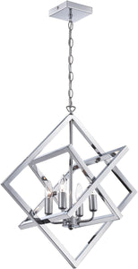 Lite Source Isidro 4-Light Pendant Chrome LS19889