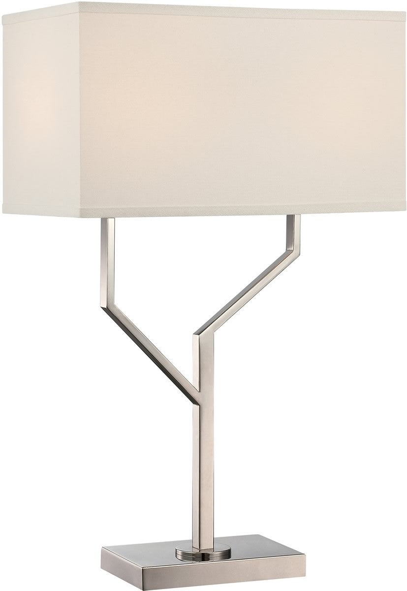 "25""H Joshua 2-Light Table Lamp Polished Silver"