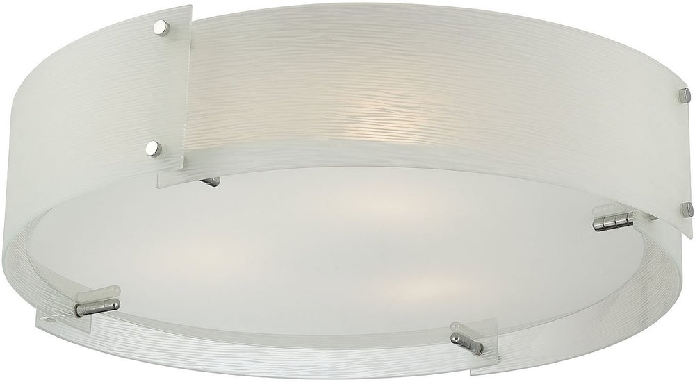 "8""w Kaelin 3-Light Flush Mount Chrome"