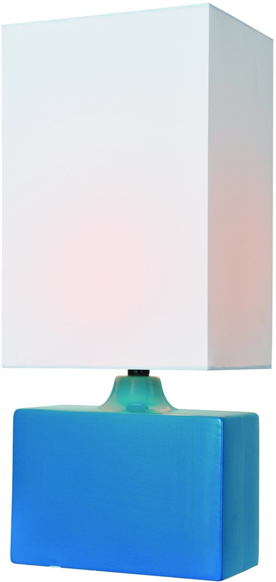 "18""H Kara 1-Light Table Lamp Aqua"