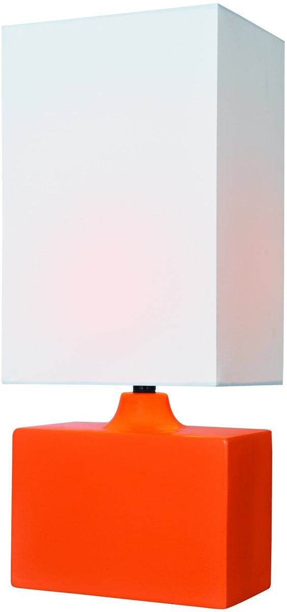 "18""H Kara 1-Light Table Lamp Orange"