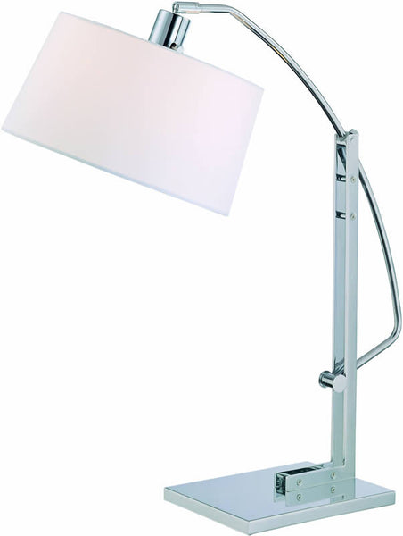 Lite Source Karm Fluorescent Table Lamp Chrome/White LS21560CWHT