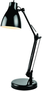 Lite Source Karolina 1-Light Desk Lamp Black LS22312BLK