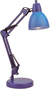 Karsten 1-Light Fluorescent Desk Lamp Blue