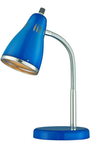 Lite Source Kris 1-Light Fluorescent Desk Lamp Chrome LS22535BLU