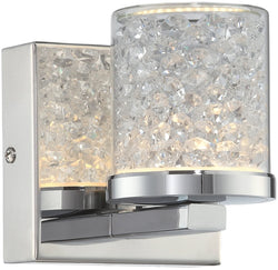 Lite Source Kristen 1-Light Wall Lamp Chrome LS16581