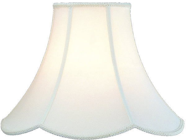 7x16x13 Antique Off-White Scalloped Shade