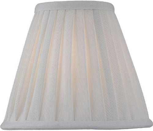 Lite Source 3 T x 6 B x 5 H Off-White Empire Pleated Candelabra Shade CH51776