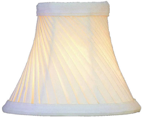 Lite Source 3 T x 6 B x 5 H Warm White Clip-On Candelabra Swirl Pleat Shade CH5286
