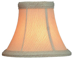 Lite Source 3 T x 6 B x 5 H Beige on Beige Textured Clip-On Candelabra Shade CH5466