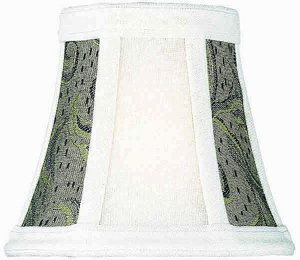3x5x4.5 Brown Jacquard Clip-On Candelabra Shade
