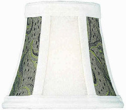 Lite Source 3 T x 5 B x 4.5 H Brown Jacquard Clip-On Candelabra Shade CH5755