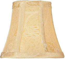 Lite Source 3 T x 6 B x 5 H Golden Jacquard Clip-On Candelabra Shade CH5816