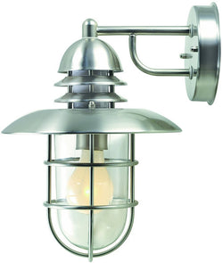 "12""h Lamppost II Outdoor Wall Lamp Stainless Steel"