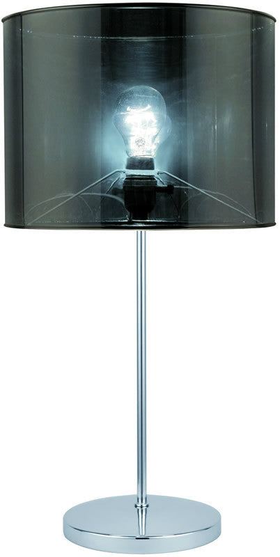 Lanza 1-Light Fluorescent Table Lamp Polished Steel
