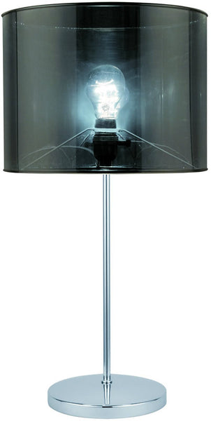 Lite Source Lanza 1-Light Fluorescent Table Lamp Polished Steel LSF21998