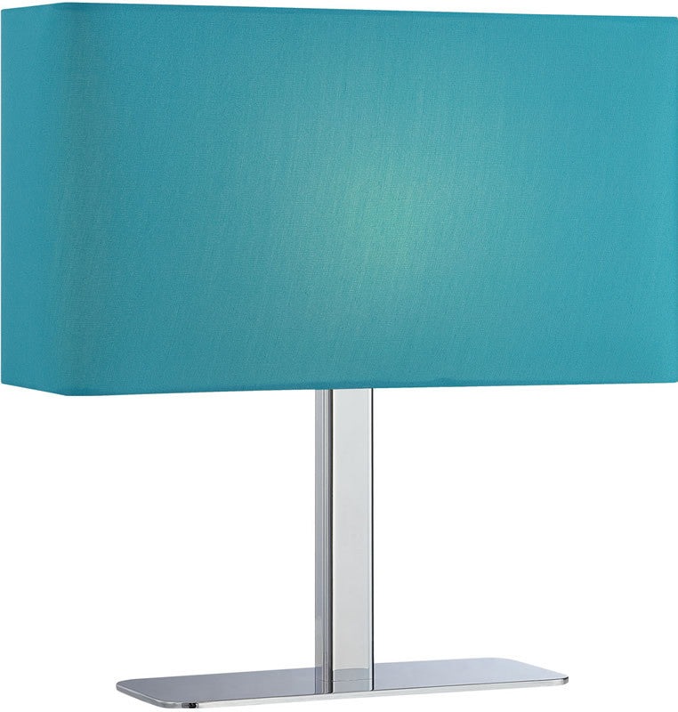 Levon 1-Light Table Lamp Chrome/Blue